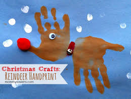 Kid Crafts For Christmas - 18 christmas handprint and footprint crafts spaceships and laser