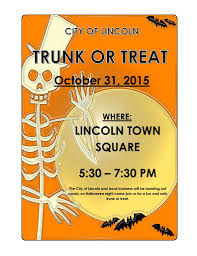 trunk or treat oct 31 city of lincoln