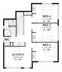 Floor Plan With 4 Bedrooms by 4 Bedroom 2 Storey House Plans U0026 Designs Perth Vision One Homes