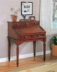 Secretarys Desk Desk In Cherry Finish By Coaster 800371