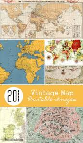 free map remodelaholic 20 more free printable vintage map images