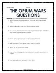 in china opium wars reading questions and cartoon analysis