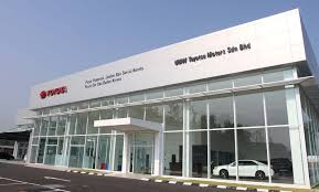toyota car showroom toyota opens 3s centre with body and paint in rawang