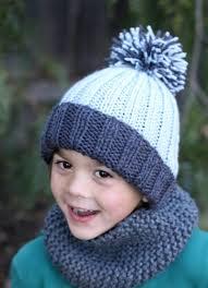 Thanksgiving Hats For Babies Beginner Easy Ribbed Pom Hat Allfreeknitting Com