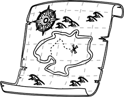 treasure map clipart black and white treasure map clipart wikiclipart