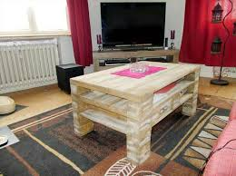 No Coffee Table Living Room Diy Pallet Living Room Coffee Table