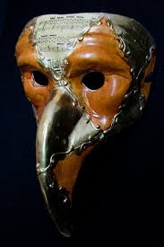 venetian bird mask orange and gold venetian bird hook nose mask