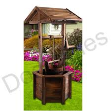 Wishing Well Garden Decor Outdoor Rustic Wishing Well Planter Pot Garden Decor Flower Zen