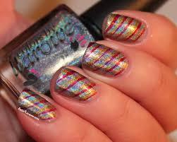 25 beautiful stripes design nail art ideas
