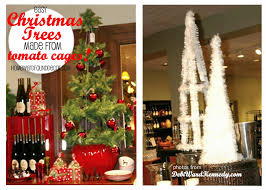 Easy Holiday Decorating Use Tomato Cages As Trees Homewardfounddecor