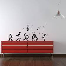 dancing notes wall decal