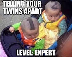 Worlds Funniest Meme - telling your twins apart meme