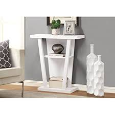 Hallway Accent Table Monarch Specialties Console Accent Table 32 Inch White