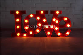 valentines day lights aliexpress buy led marquee sign light up vintage