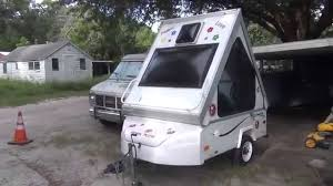 setting up aliner alite 400 folding motorcycle camper youtube