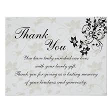 wedding gift thank you notes wedding gift thank you cards invitations 4 u