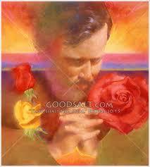 praying with roses