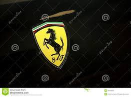 ferrari emblem ferrari logo editorial image image of chrome engine 25509035