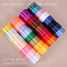silk satin ribbon 75 color 40mm silk satin ribbon craft bow hair band accessoriess