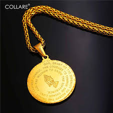 bible verse jewelry aliexpress buy collare praying pendant gold gold