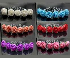 flower hair pins 24px small foam flower hair pins wedding bridal flowers