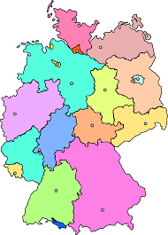 Germany Map Outline by States Of Germany Thinglink