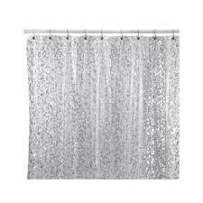 Silver Shower Curtains Pebbles Silver Vinyl Shower Curtain Bed Bath U0026 Beyond Polyvore