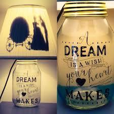 cinderella inspired mason jar character lamp