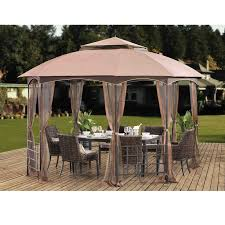 Patio Gazebos Sunjoy Harley 11 Ft W X 13 Ft D Metal Patio Gazebo Reviews