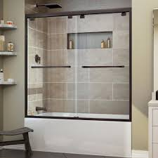 glass bath doors frameless dreamline encore 56 in to 60 in x 58 in framed bypass tub door
