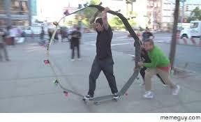 Funny Skateboard Memes - a giant skateboard wheel skateboard meme guy