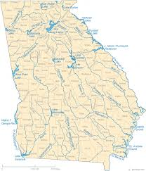 lake lanier map map of lakes streams and rivers