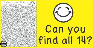 smile find visual scanning visual discrimination activity your