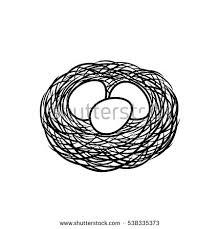 eggs nest icon bird nest eggs stock vector 538335373 shutterstock