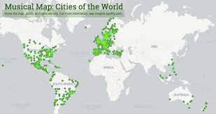 world map by cities musical map cities of the world insights