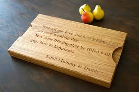 personalized cutting board wedding personalised wooden wedding gifts makemesomethingspecial