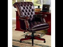 Leather Office Chair Wood And Leather Office Chair Antique Wood And Leather Office Chair