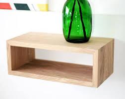 Nightstand With Shelves Floating Nightstand Etsy