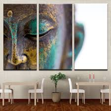 home decor buddha canvas paintings wall art home decor 3 pieces buddha statue face