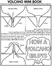 coloring pages volcano volcano mini book coloring page crayola com
