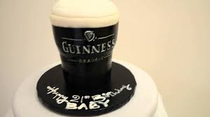 guinness dark beer for special groom cake for bachelor party in