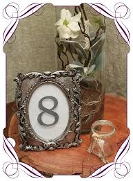 silver frames for wedding table numbers hire vintage silver table number frames flowers for ever after