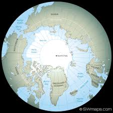 World Map With Ocean Labels by Arctic And North Pole Map Swmaps Com