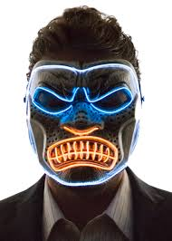 Gorilla Mask Halloween by Glowing Angry Gorilla Mask Neon Nightlife