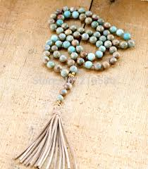 aliexpress bead necklace images N15100709 bohemia necklace seidiment sediment stone beads knot jpg