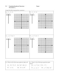 graphing quadratic equation worksheet answers deployday
