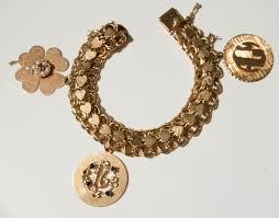 charm bracelet gold vintage images Adrienne 39 s heirlooms for appraisal vintage 14kt gold heart links jpg