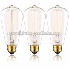 old style light bulbs edison bulb st64 60w dimmable clear glass old fashioned light bulbs