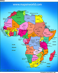 africa map high resolution political map only countries