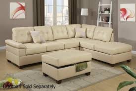 Leather Sectional Sofa With Ottoman by Sofas Center Leather Sectional Sofas Poundex Ancel Brown Sofa